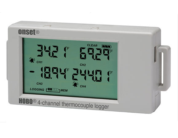 HOBO 4-Channel Thermocouple Data Logger - UX120-014M - UX120-014M
