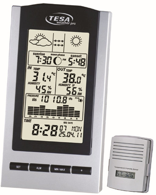 TESA Wireless Temp Station with Moon Phase - WS1151