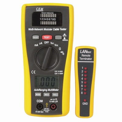2 in 1 Network Cable Tester and Digital Multimeter - XC5078