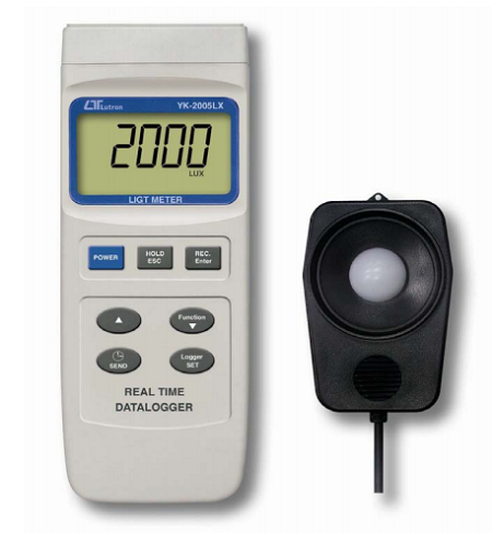 Lux Light Meter Real Time Data Logger - YK2005LX