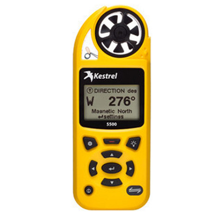 Kestrel 5500 Pocket Weather Tracker - Yellow