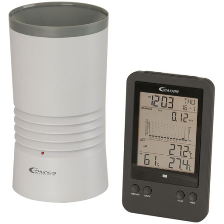 Digital Rain Gauge with Temperature - XC0430