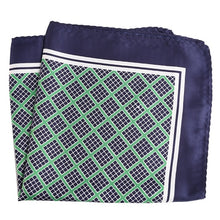 Load image into Gallery viewer, Green and Blue Pocket Square