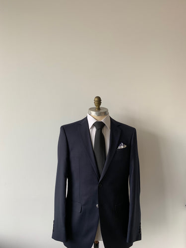 Navy Micro Textured Suit