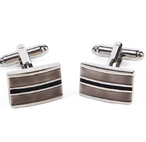 Load image into Gallery viewer, Rectangular Striped Cufflinks