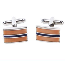 Rectangular Striped Cufflinks