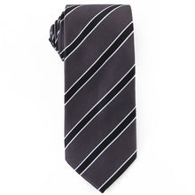 Load image into Gallery viewer, Black Striped Tie