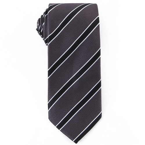 Black Striped Tie