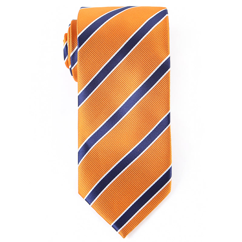 Orange Striped Tie