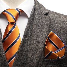 Load image into Gallery viewer, Orange Striped Tie