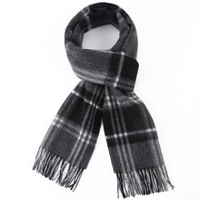 Load image into Gallery viewer, Grey Checkered Scarf