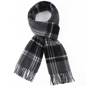 Grey Checkered Scarf