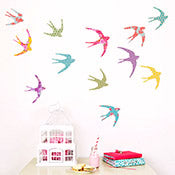Birds in Flight Wall Stickers