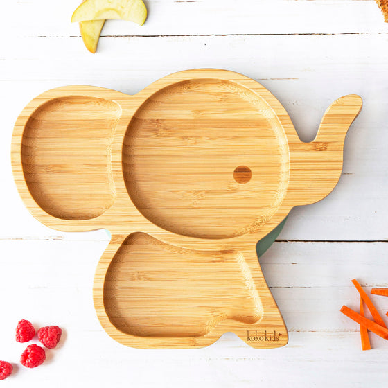Elephant Bamboo Suction Plate