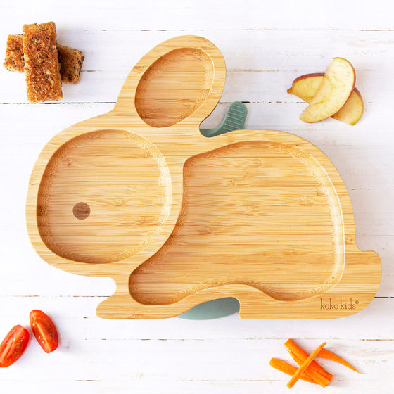 Rabbit Bamboo Suction Plate
