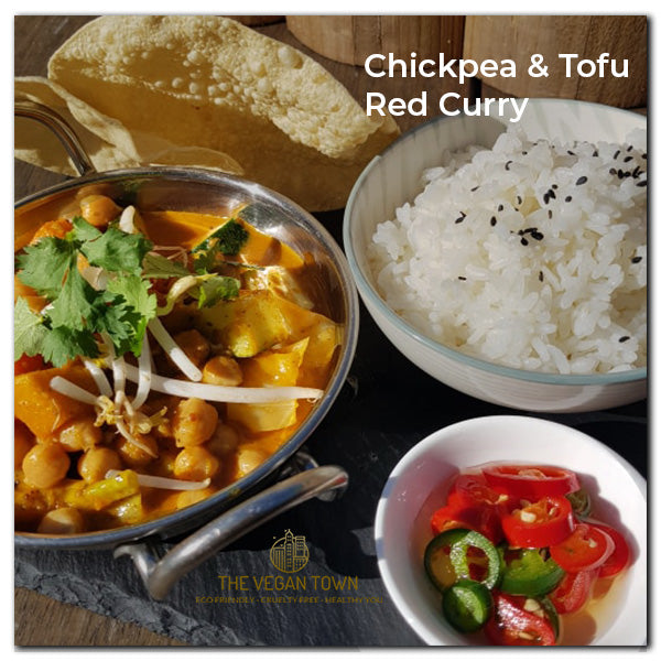 Winter Warmer Tofu and Chickpea Red Curry