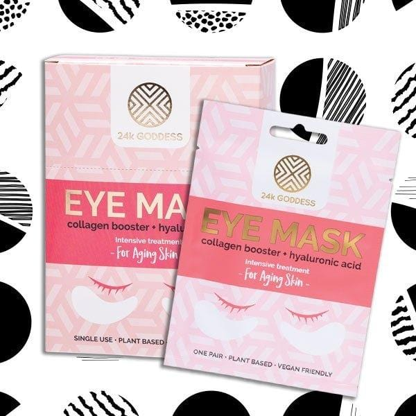 24k Goddess Eye Mask - Ageing Skin collagen booster and hyaluronic acid for vegan skincare.