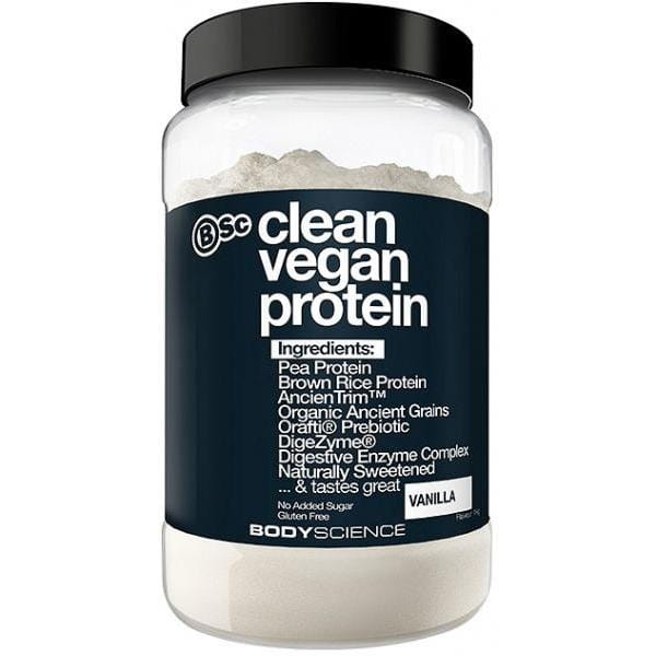 BSc Clean Vegan Protein Powder G/F 1Kg Vanilla Single Tub | Online Vegan Store