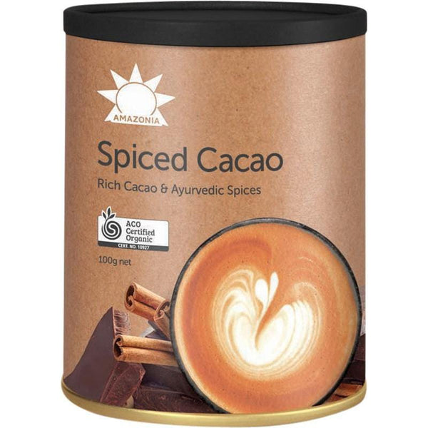 Amazonia Certified Organic Rich Cacao & Ayurvedic Spices 100g