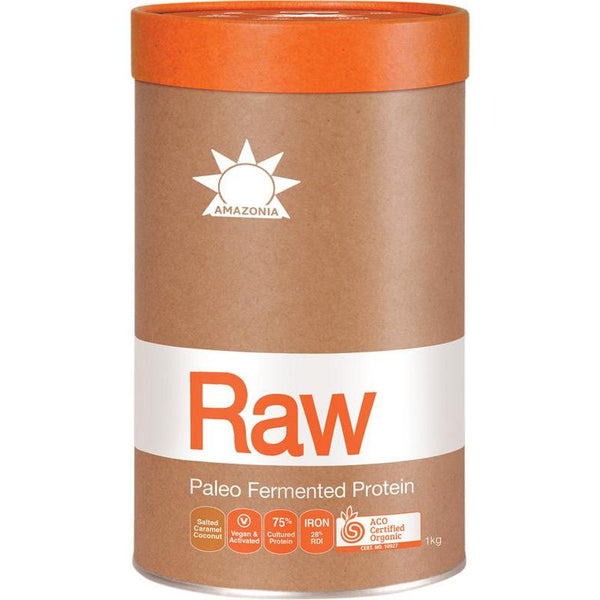 Amazonia Raw Fermented Paleo Protein - Salted Caramel Coconut - in various sizes