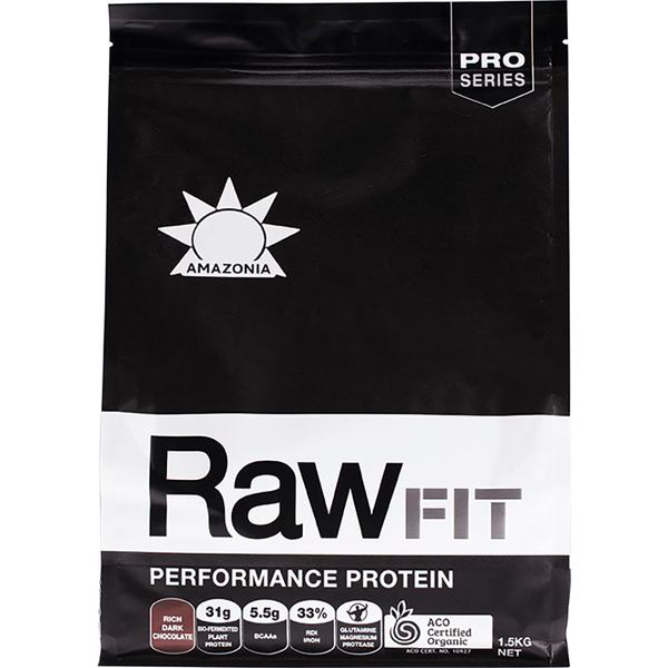 Amazonia Raw Fit Performance Protein Rich Dark Chocolate
