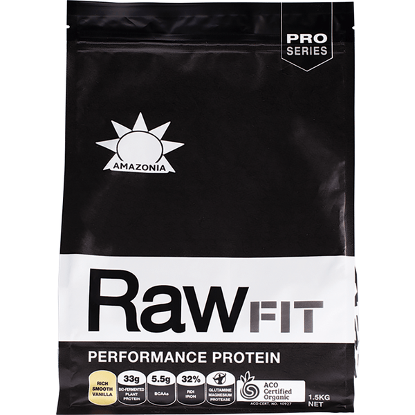 Amazonia Raw Fit Performance Protein Rich Smooth Vanilla 1.5kg - The Vegan Town