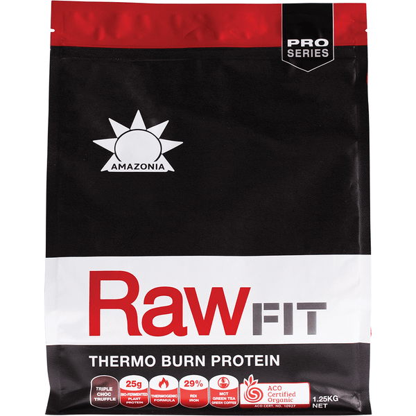 Amazonia Raw Fit Thermo Burn Protein Triple Choc Truffle 1.5kg - The Vegan Town