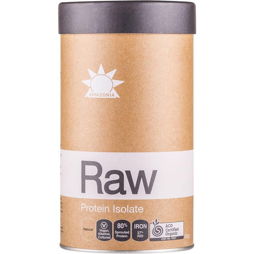 Amazonia Raw Protein Isolate Natural Flavour - in various sizes - vegan protein powder online