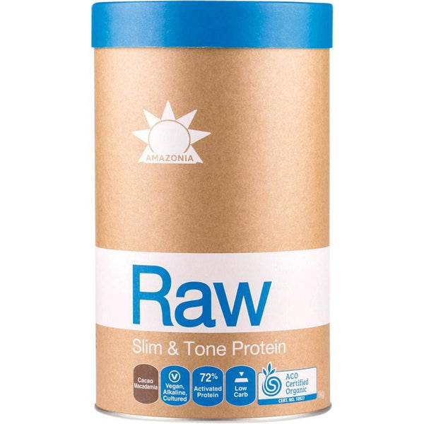 Amazonia Raw Slim and Tone Protein Cacao & Macadamia - in various sizes - The Vegan Town