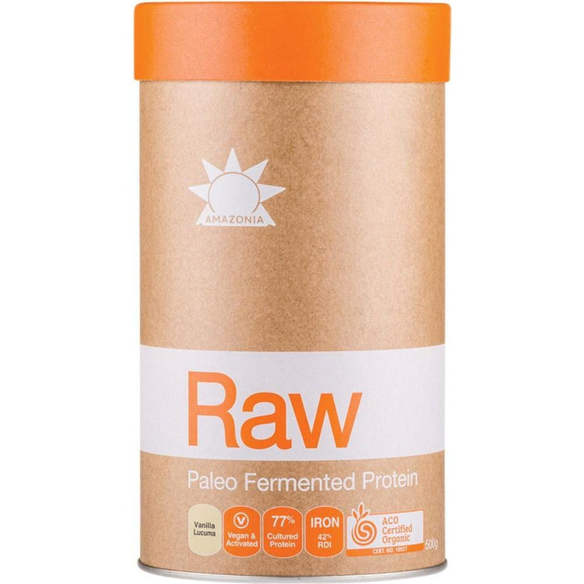 Amazonia Raw Fermented Paleo Protein - Vanilla & Lucama - in various sizes