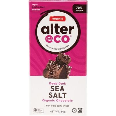 Alter Eco Organic Chocolate 75g/80g - in various flavours
