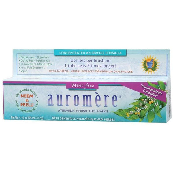 Auromere Toothpaste - Ayurvedic 117g  Fluoride Free -  in various flavours