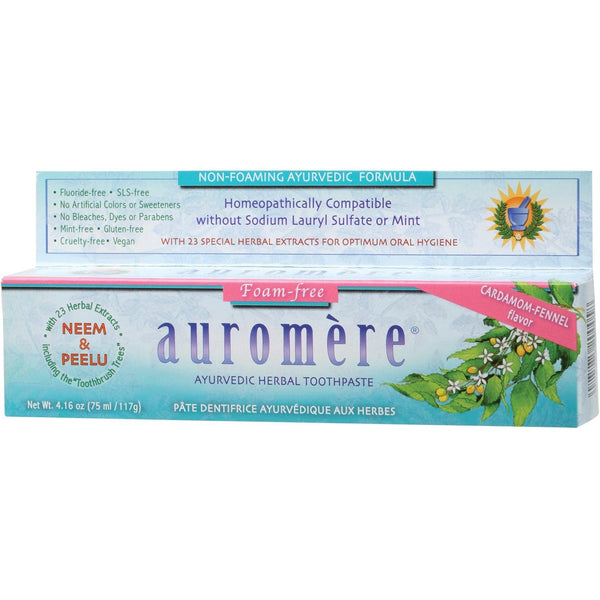 Auromere Toothpaste - Ayurvedic 117g  Fluoride Free -  in various flavours - The Vegan Town