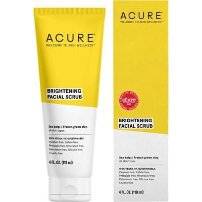 Acure Brightening Facial Scrub 118ml - vegan beauty