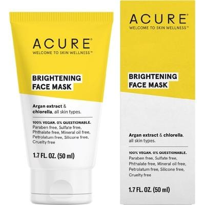 Acure Brightening Face Mask 50ml - The Vegan Town