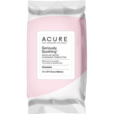 Acure Seriously Soothing Micellar Water Towelettes x 30 - vegan beauty