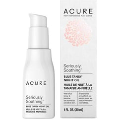 Acure Seriously Soothing Blue Tansy Night Oil 30ml - vegan beauty