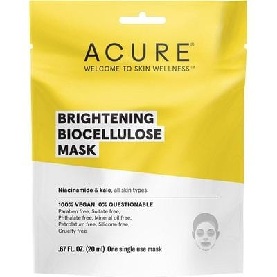 Acure Brightening Biocellulose Mask 20ml - The Vegan Town