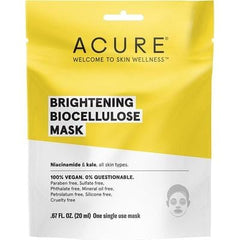 Acure Brightening Biocellulose Mask 20ml - vegan beauty