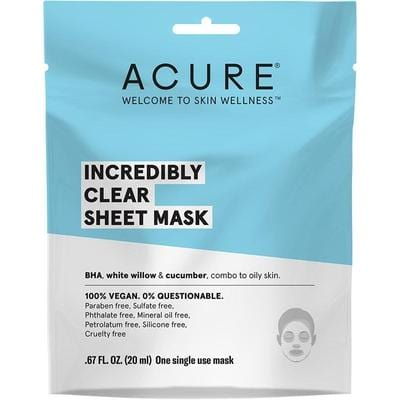 Acure Incredibly Clear Sheet Mask 20ml - The Vegan Town