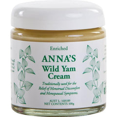 Anna's Wild Yam Cream Menstrual & Menopausal Symptoms 100g - vegan products online
