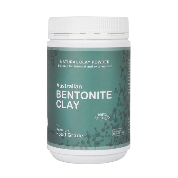 Australian Healing Clay Bentonite Clay Powder 1kg in weight - vegan products online