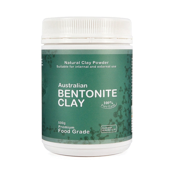 Australian Healing Clay Bentonite Clay Powder 500g in weight - vegan products online