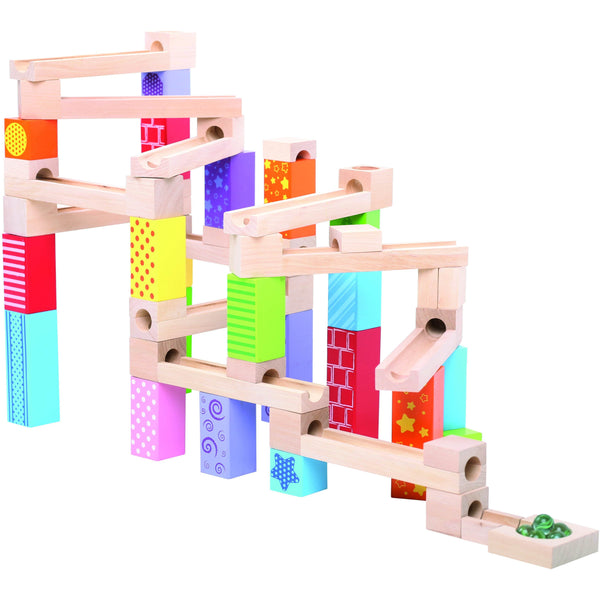 Big Jigs Toys Marble Run assembled | Eco Toys | Educational Wooden Toys - The Vegan Town