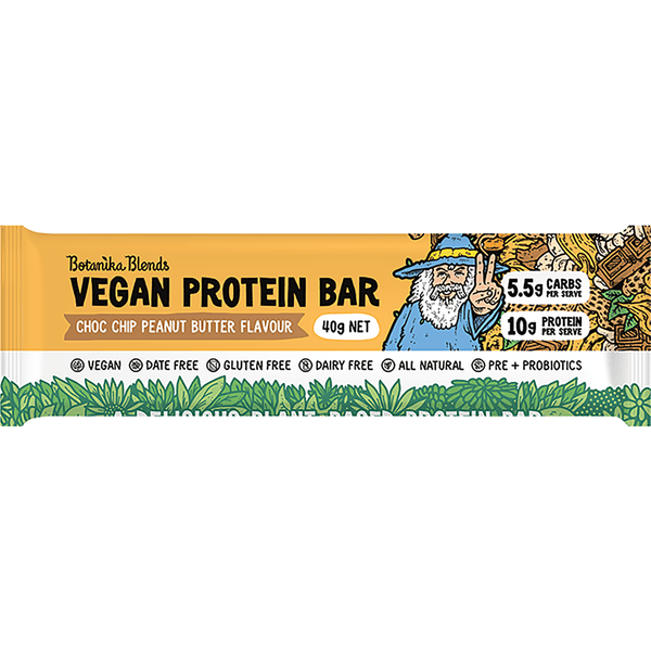 Botanika Blends Vegan Protein Bars 40g - Choc Chip Peanut Butter Flavour
