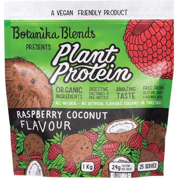 Botanika Blends Plant Protein Raspberry Coconut - in various sizes - The Vegan Town