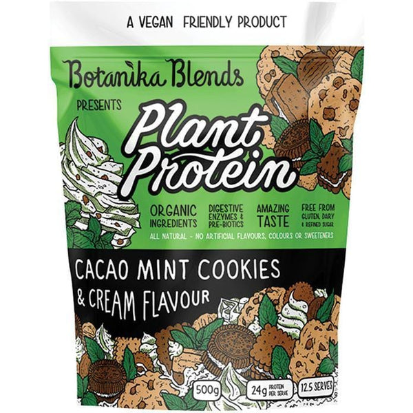 Botanika Blends Plant Protein Cacao Mint Cookies & Cream - in various sizes - The Vegan Town