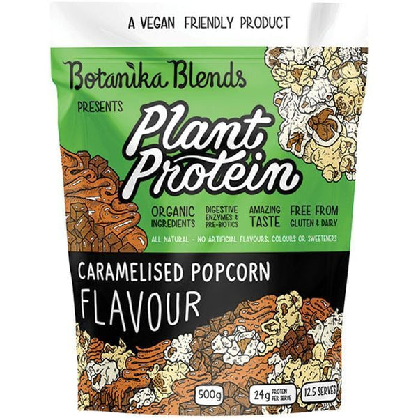 Botanika Blends Plant Protein Caramelised Popcorn - in various sizes - The Vegan Town
