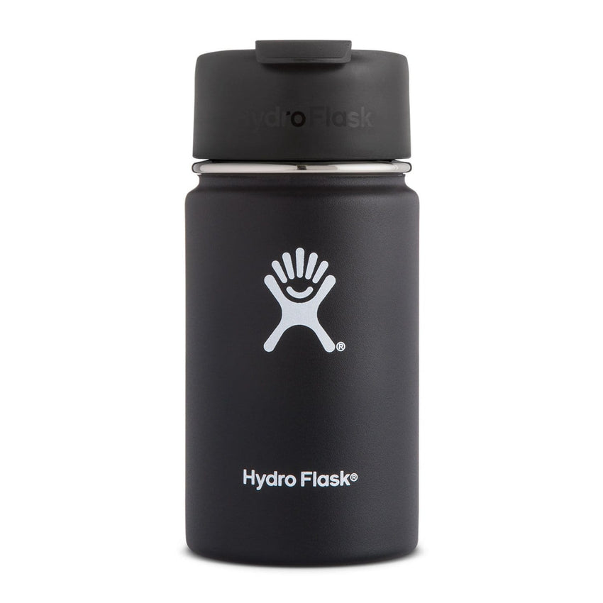 Hydro Flask Wide Mouth Coffee Flask - Flex Sip Double Insulated 354ml Black | Eco Products Online | Online Vegan Store