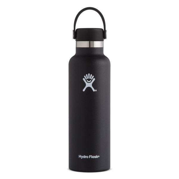 Hydro Flask Standard Mouth Bottle - Flex Cap 621ml Black | Eco Products Online | Online Vegan Store